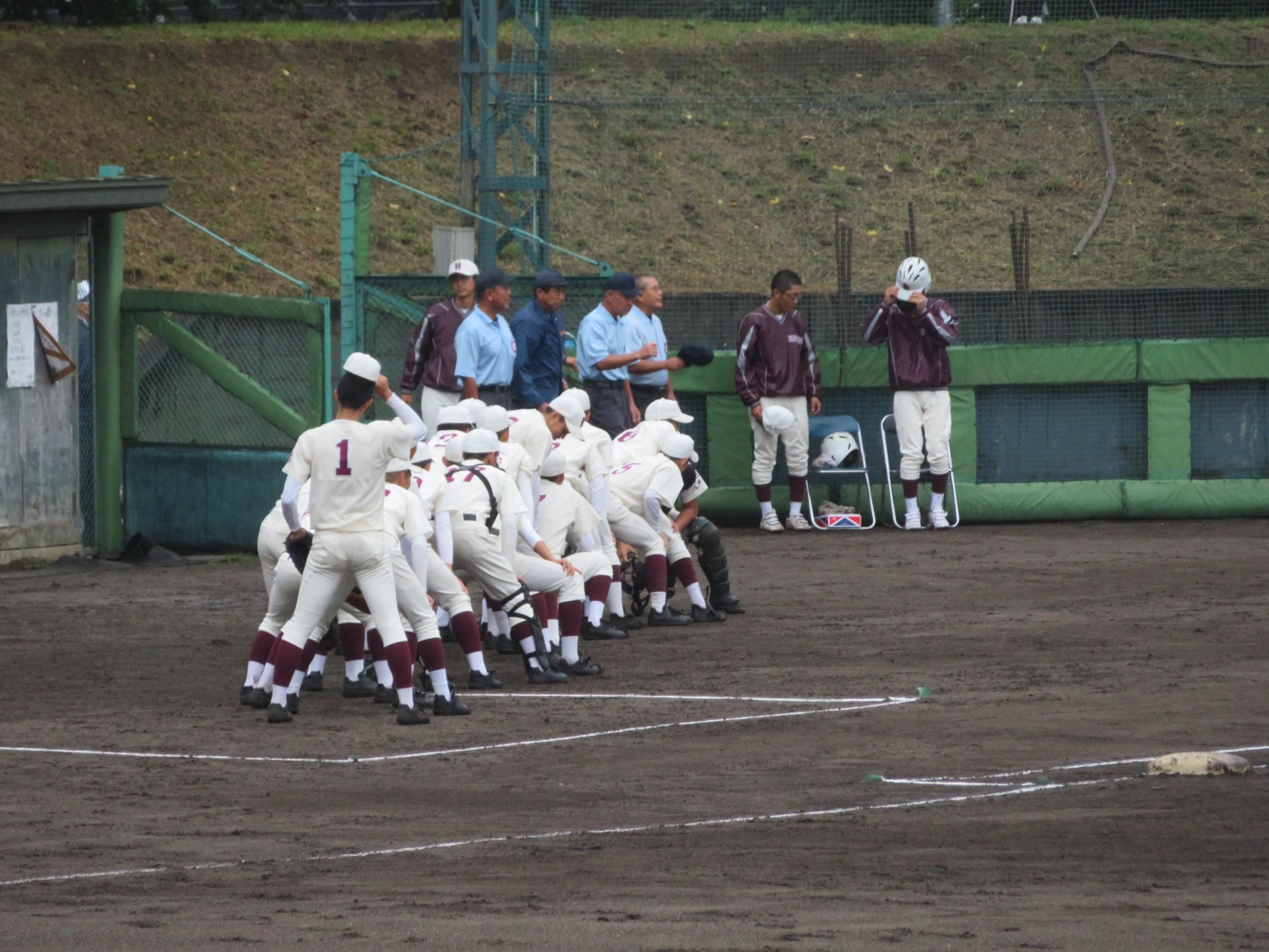 令和2年度 秋季青森県高等学校野球選手権大会 地区予選 敗者復活戦 対 ウルスラ